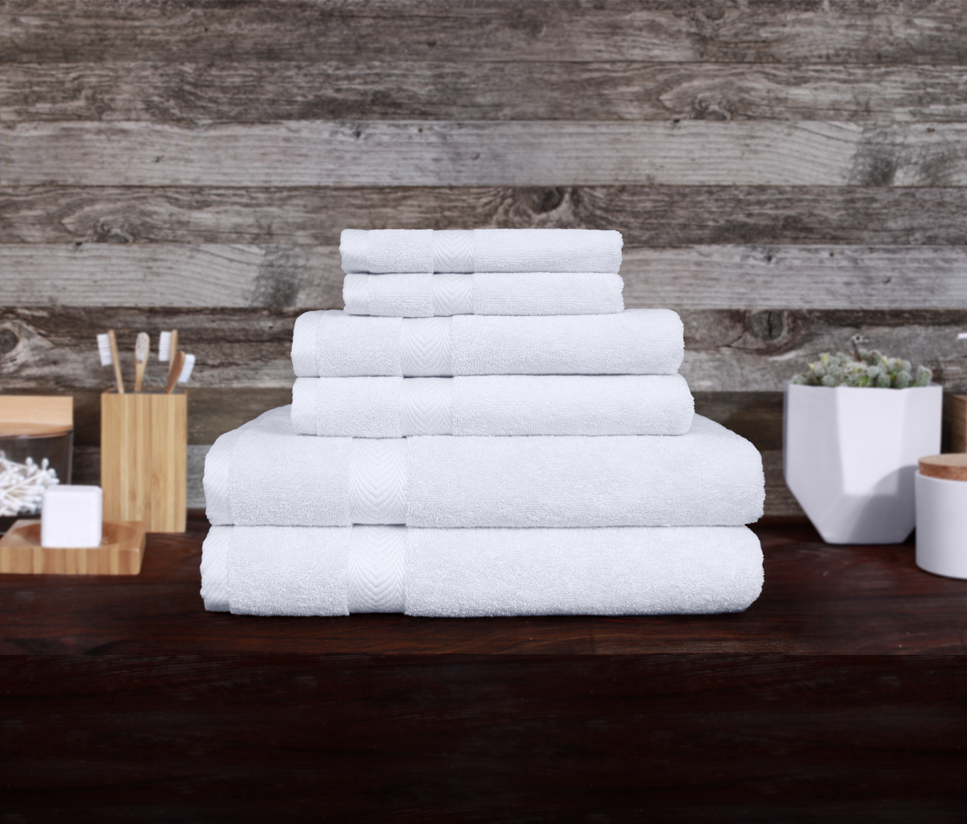 Organic 6pc towel set