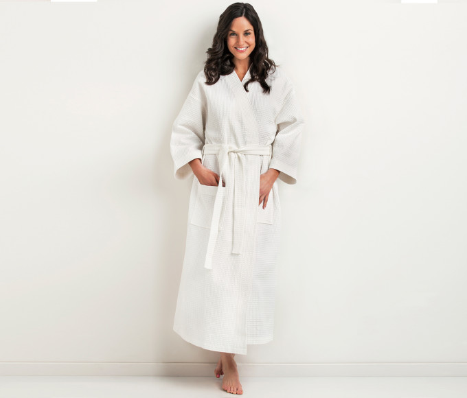 Additional-Kimono Robe-Waffle
