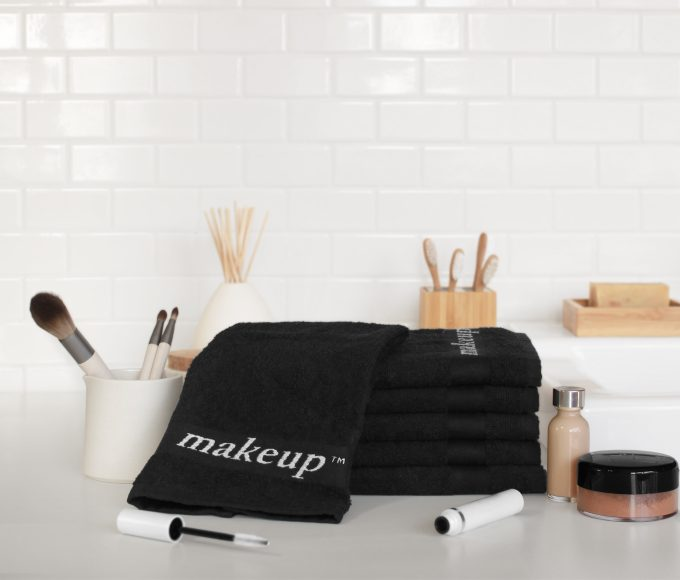 Black Makeup Towels