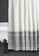 Shower curtain grey stripe