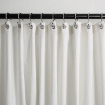 Fitness Towel Spa Treatment Salon Shower Curtain Grey Stripe