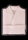 Organic Kimono Waffle Robe in Cocoa Color