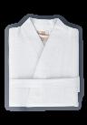 Organic Kimono Waffle Robe White color
