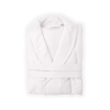 Shawl Collar Waffle Robe with Terry interior in White