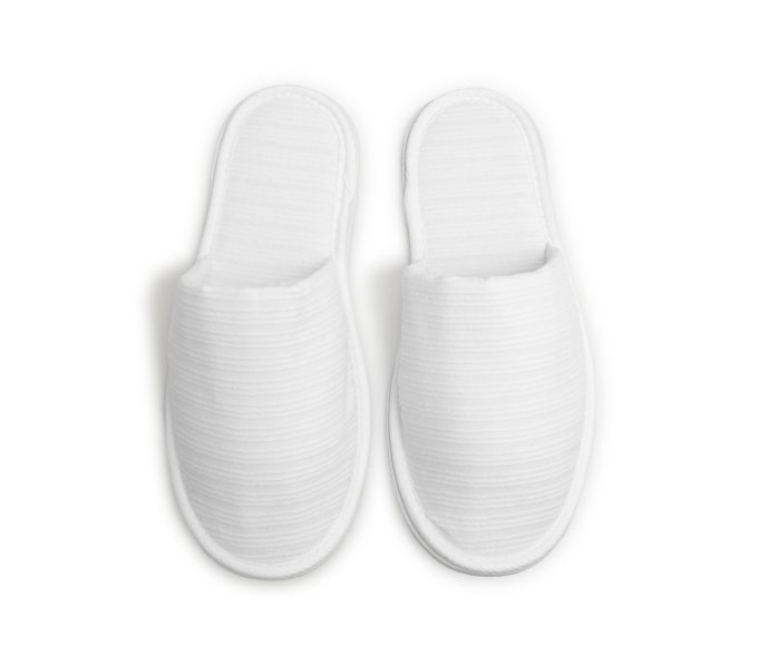 Serene White Slippers