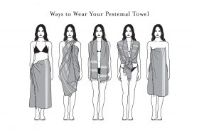 Ways to wear your Peshtemal towel