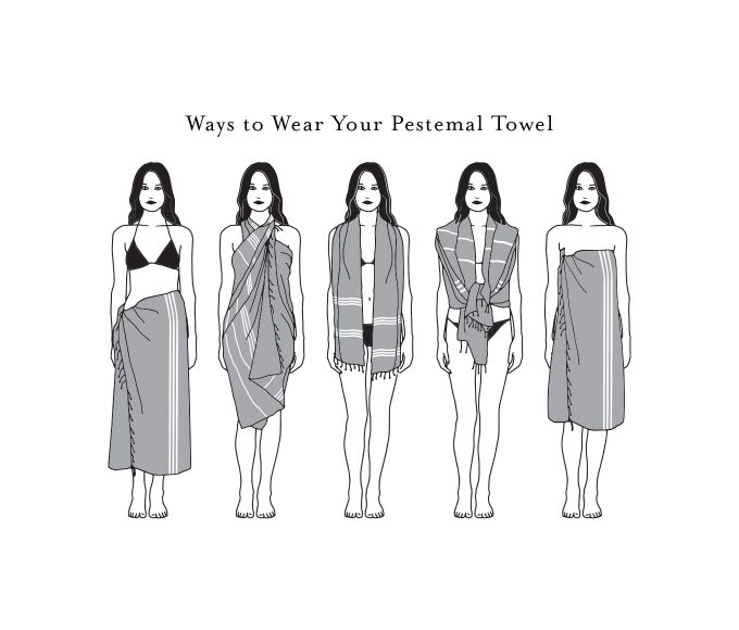 Ways to wear your Peshtemal towel