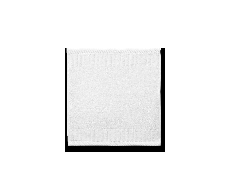Zenith White Washcloth